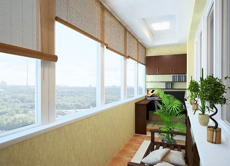 Теплое остекление балконов и лоджии пластиковым профилем