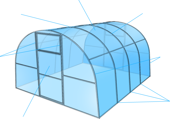 технические характеристики теплиц